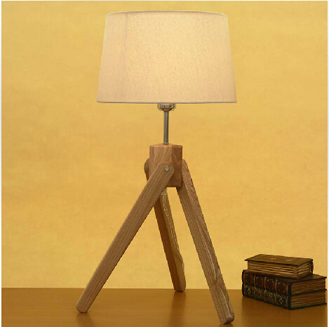 Free Shipping Hot Selling E27 Modern Table Lamp Wood Lamp