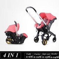 4 в 1 Детские коляски для новорожденных люльки, колыбели Тип детское кресло корзина коляски детское автомобильное путешествие раза коляска 3