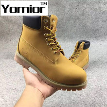 Women Men Boots Fashion Martin Boots Outdoor Casual Genuine Leather Timber Boots Autumn Snow Winter Lover Shoes Botas Hombre