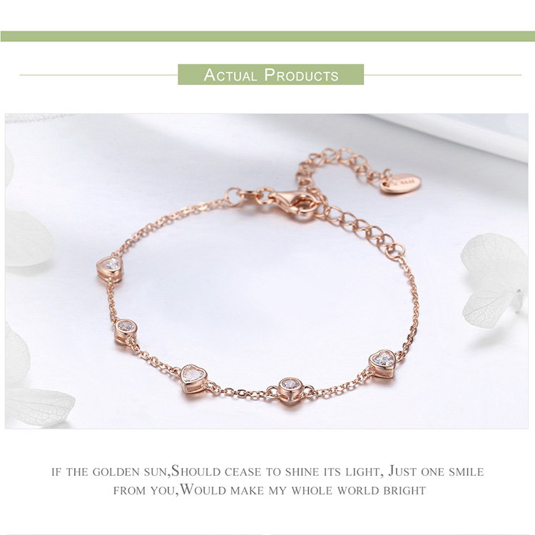 925 Sterling Silver Sparkling Tennis Bracelet Chain Strand Bracelets for Women Luxury Original Sterling Silver Jewelry GXB029