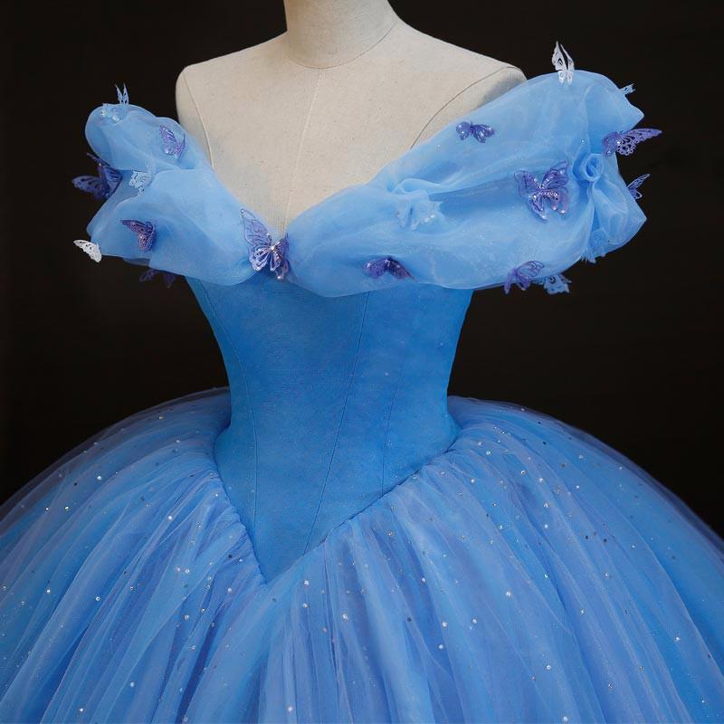 2018 vestido de noiva Movie Cinderella Cinderella butterfly New ... 4061c2511f29