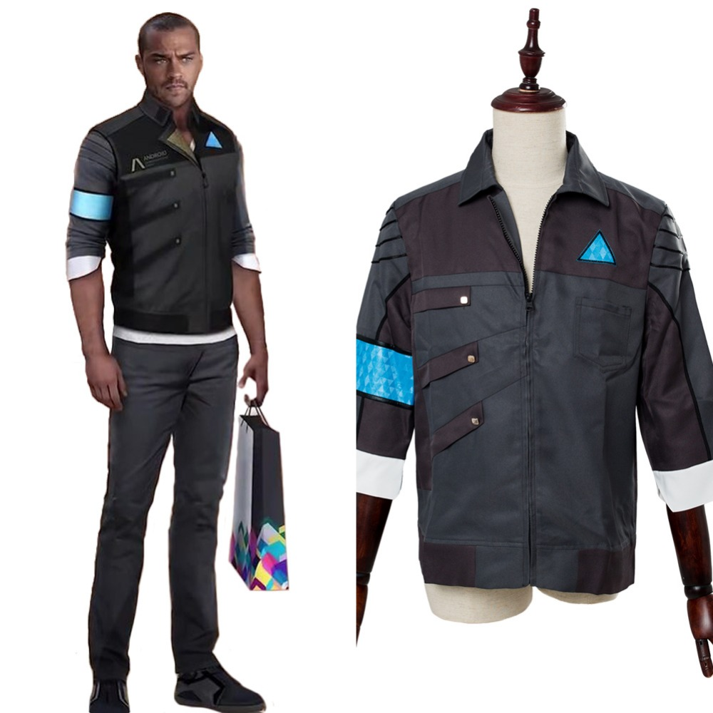 Detroit: Become Human Cosplay Costume Markus RK200 Casual Coat Suit Jacket Housekeeper Android Uniform Outfit Halloween Costumes