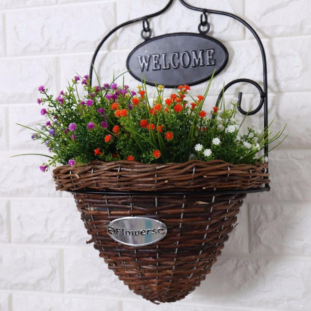 Basket Flower Decoration Aliexpresscom Buy 1bunch1pc Rose Simulation Flowers Decorative