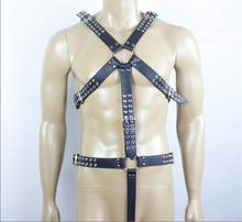 Adult game Leather Harnesses Men Fetish Bondage Bondage Restraints Body Harness Male Sex Tools For Sale sex products
