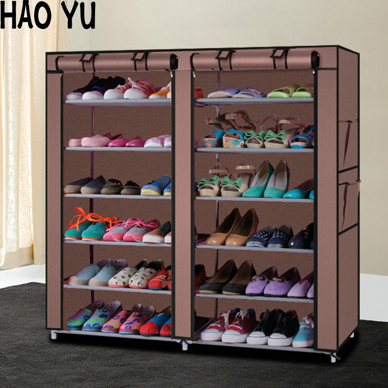 Perfect Shoe Cabinet Shoes Rack Storage Large Capacity Home Furniture DIY Simple 12  Gird Part 20
