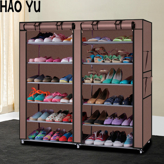 Charming Shoe Cabinet Shoes Rack Storage Large Capacity Home Furniture DIY Simple 12  Gird