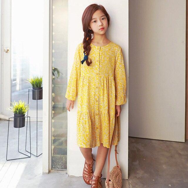 Garden Style S Dresses Long Sleeve Fl Printed Dress Summer Autumn Beach Princess Clothing