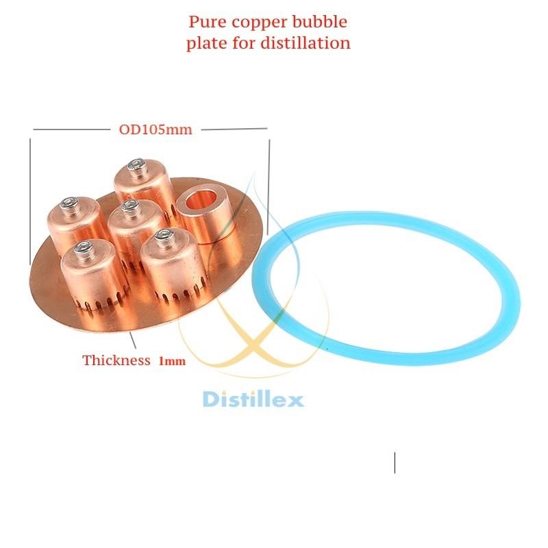 "4"" OD105mm 99.9% Red Copper  Bubble  Plate For  4"" Distillation Column . Home Brewing, Distillation, Reflux Column, Moonshine"