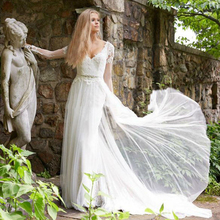 TPSAADE Simple A line Long Sleeve Elegant Wedding Dresses