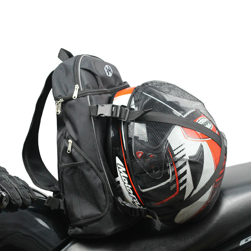 Motorcycle Helmet Backpack Ride Bicycle BAG Travel Outdoor Sport Luggage Bag Motorbike Bags Scooter Bags Reflective Safety 24L