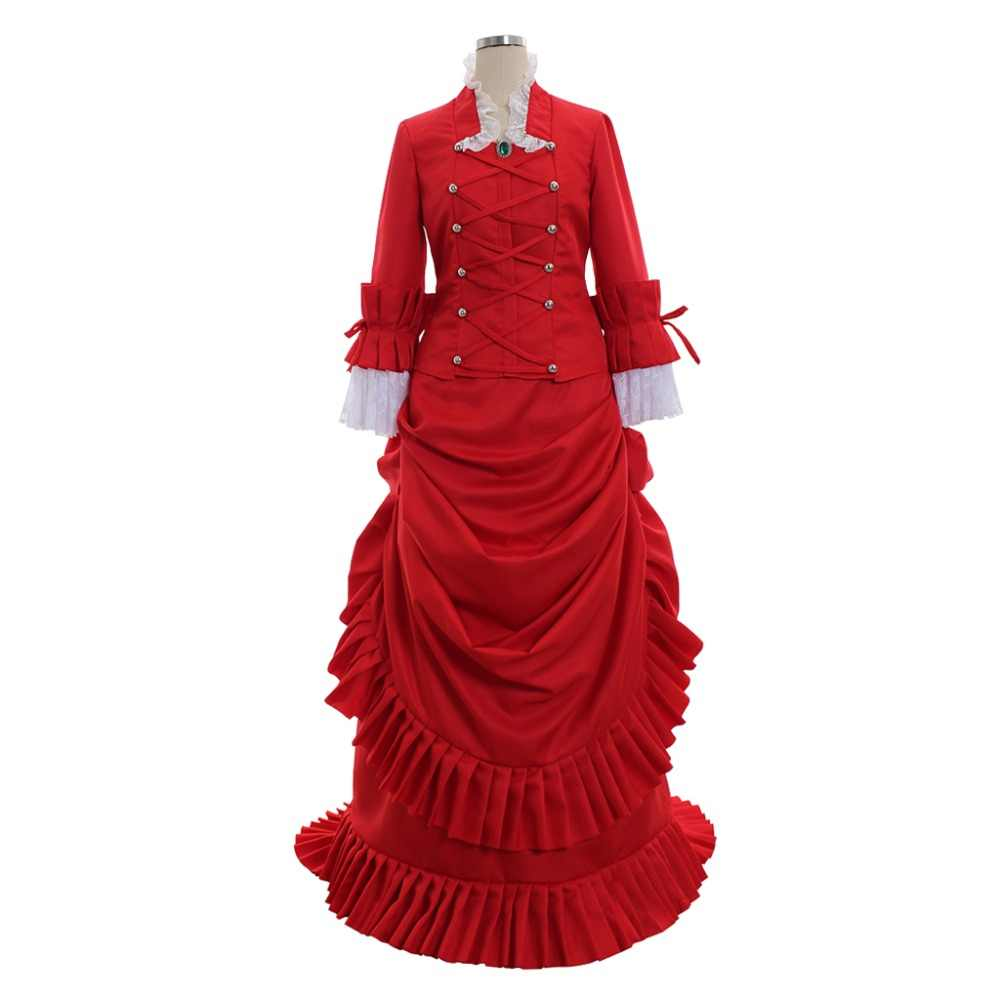 Bram Stoker s Dracula Deadwood Alma s Red Medieval Victorian Dress Adult  Women Halloween Costume Custom Made D0826 d7377db17