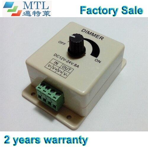 LED-es dimmervezérlő 12-24V / 8A, 50 db / tétel, kézi kapcsoló, - Világítási kiegészítők