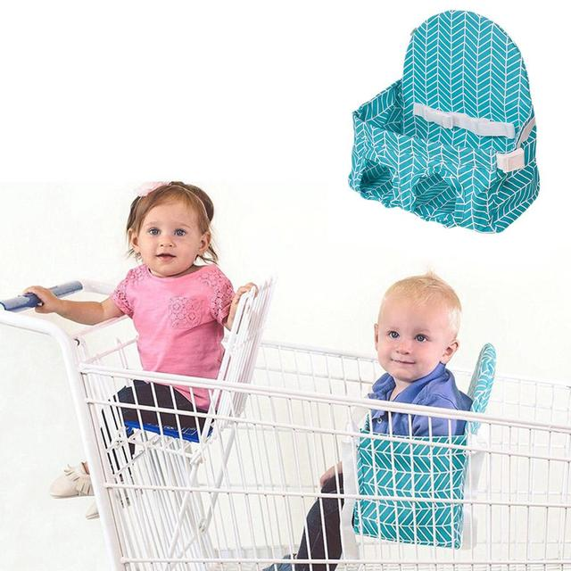 Baby Shopping Cart Seat Hammock Supermarket Shopping Cart Baby Seating Guard Portable Child Chair Safety Seats 2
