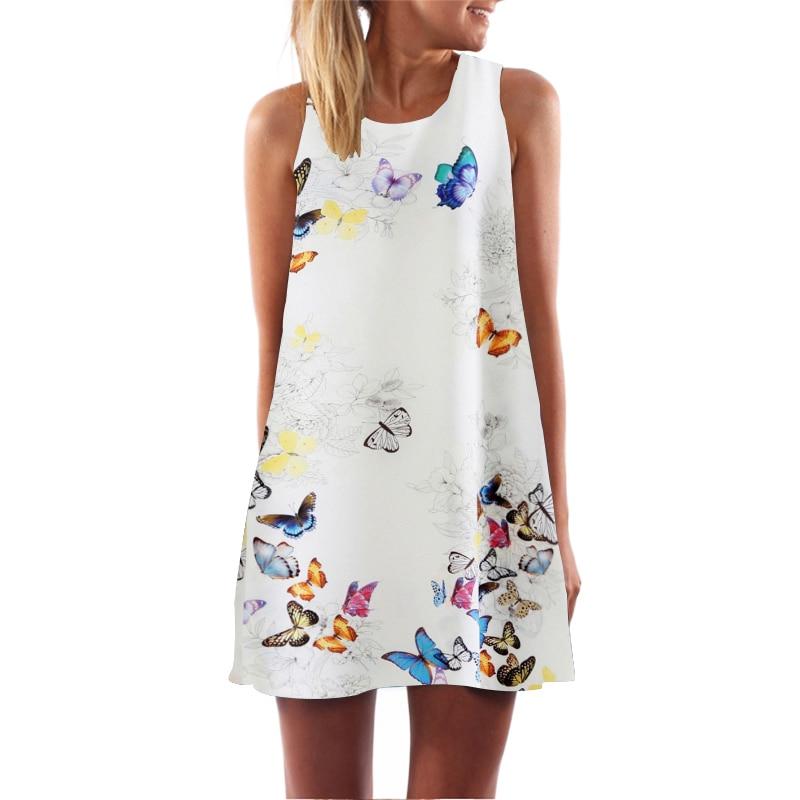 Sleeveless O-Neck Casual Dress - Fashion Trendy Shop