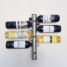High quality Creative Design Wine Holders Stainless Steel Wine Rack Bar Wall Mounted Kitchen Holder 12 And 8 Bottles