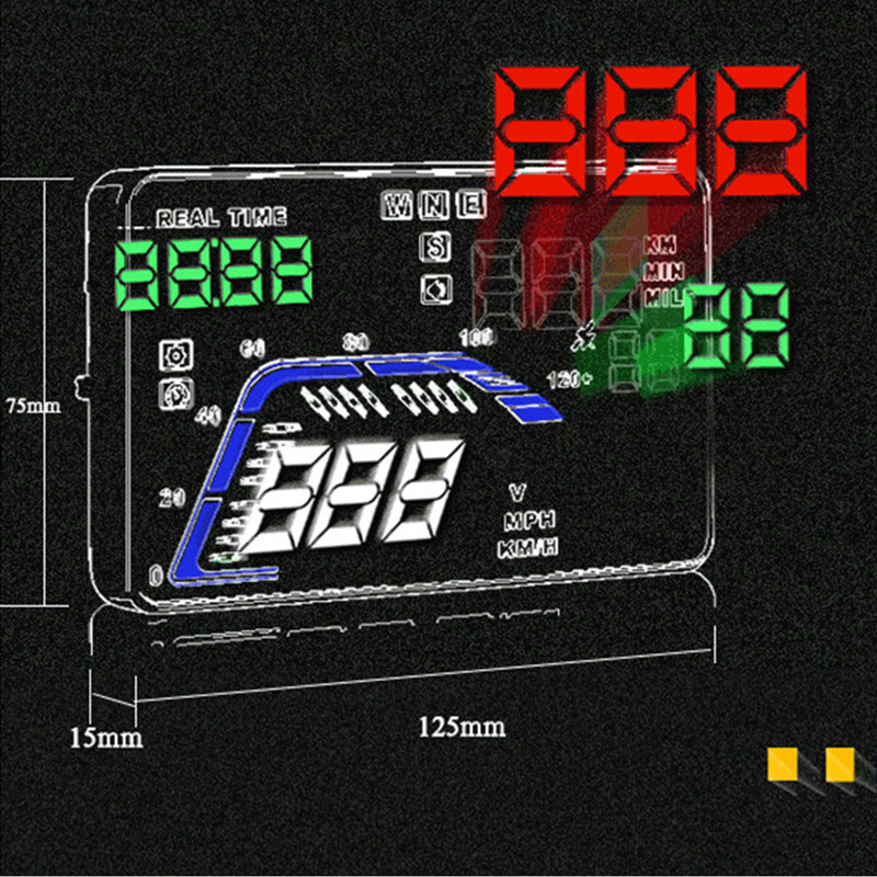 Image 4 - GEYIREN hud display car Q7 gps speedometer car for mirror hud Car Bike Motorcycle Auto Accessories Windshield Projector Alarm-in Head-up Display from Automobiles & Motorcycles