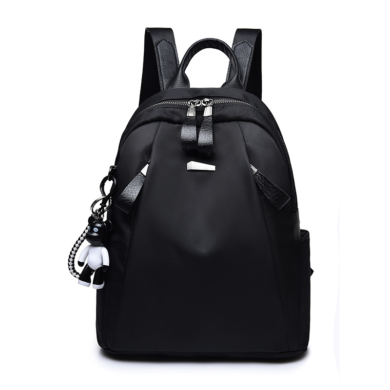 Woman New Simple Nylon Backpack All-match Female Oxford Cloth Waterproof Backpack Bag
