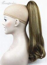 StrongBeauty 45 см синтетический длинный конский хвост на заколке удлинитель волос на заколке для конского хвоста прямой стиль 17 цветов