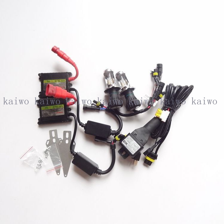 Cheap item Single bulbs HID xenon conversion kit DC 12V35W H4 9004 9007 H13  BI xenon lamp black slim ballast 12V стоимость