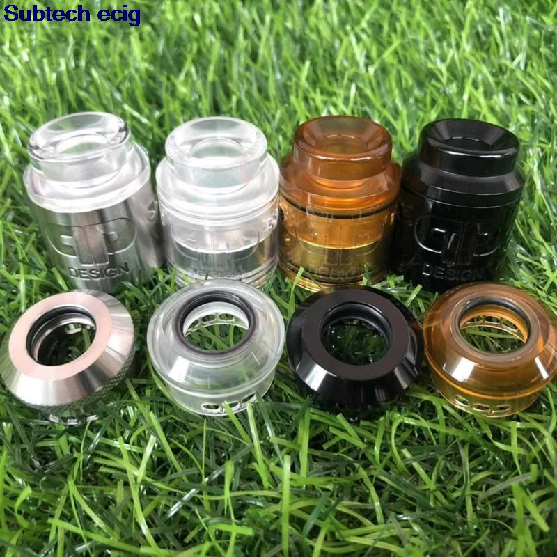 2pcs <font><b>QP</b></font> Design <font><b>KALI</b></font> <font><b>V2</b></font> <font><b>RDA</b></font> Atomizer 1:1 25mm Diamter PC PEI Material Ecig fit for 510 Mods vape tank VS Fatality Juggerknot mini image