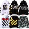2016 Inverno CUT OFF WHITE com o Real Tag 1:1 Alta hoodies das mulheres dos homens de qualidade da marca hip hop clothing bordado treino camisolas