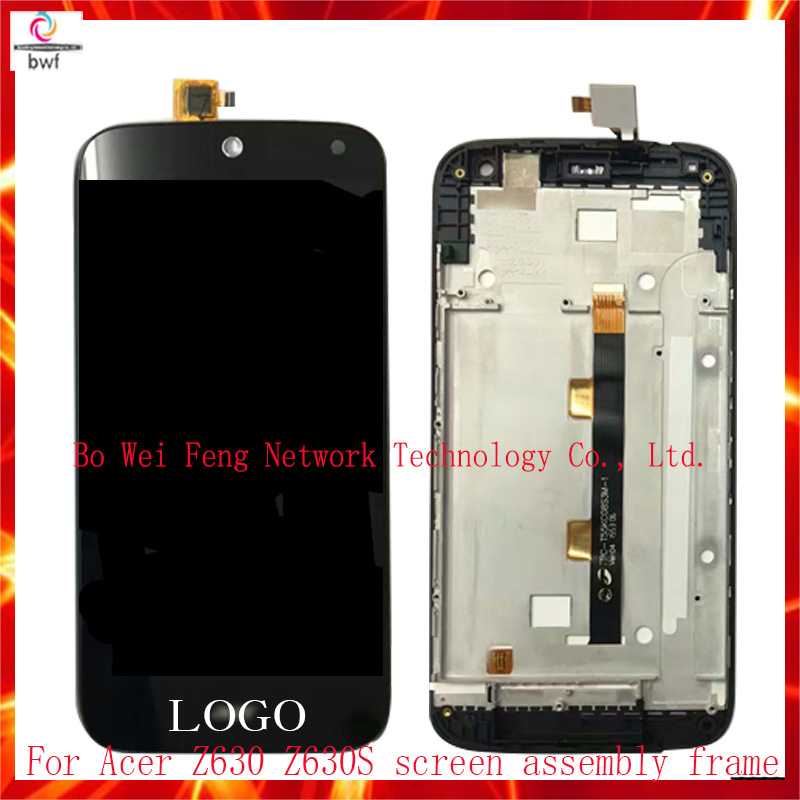 ФОТО 50Pcs DHL Original LCD Display Black For Acer Liquid Z630 Z630s lcd + Touch Digitizer Panel Assembly+Tools +Frame Free Shipping