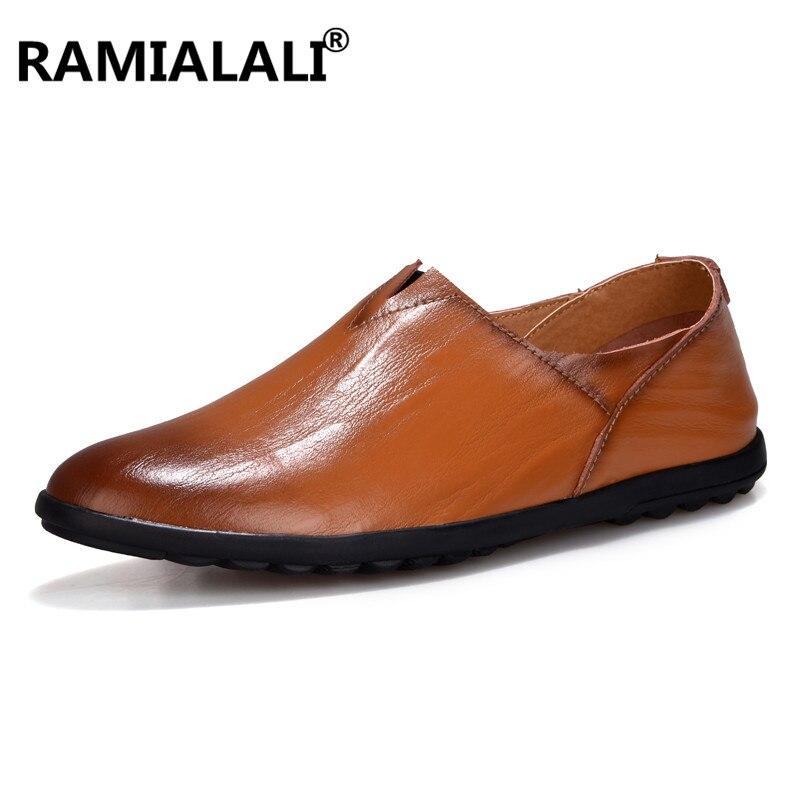 En jaune Sur Ramialali Bateau Mode Mocassins Appartements Chaussures Casual  Cuir Hommes Glissement Marque Noir Cqx4wt1 484d5564e5d