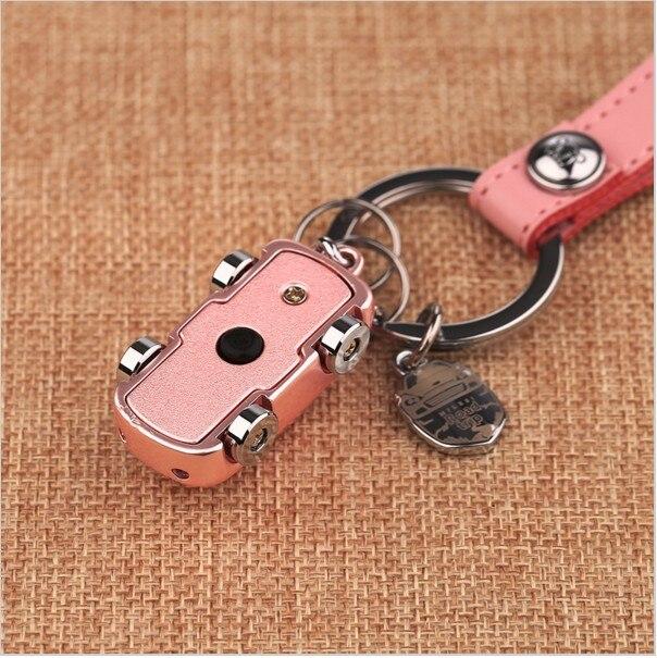 Milesi - New 2017 Brand LED Car Key chain Keychain with Belt Key Holder Rings for Women Couple Novelty Gift souvenir pendant