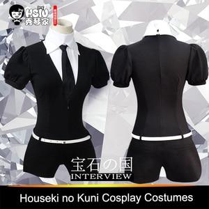 Image 4 - HSIU High Quality Anime Houseki no Kuni Costumes Phosphophyllite Diamond Bort bodysuit Cosplay Costumes Accessories Jumpsuits