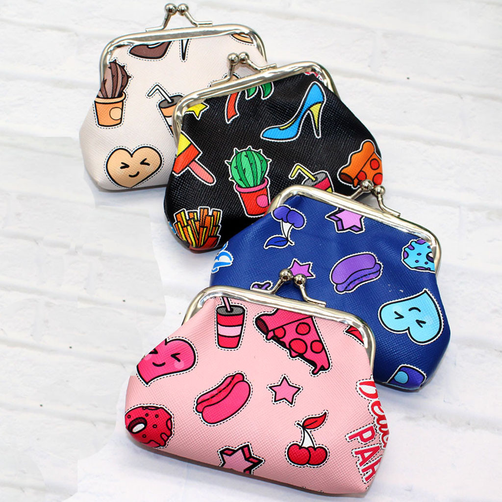 New Cartoon Cute Coin Purses For Women Girls Baby Kids Gift PU Leather Hasp Wallets Key Bag Female Coin Purse 2019#C