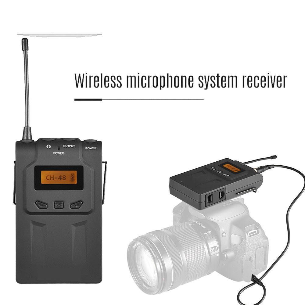 BY-WM6R Wireless Microphone System Receiver For ENG,EFP, DSLR Video, etc with Shoe Mount Adapter mac eng 6 fluency bk