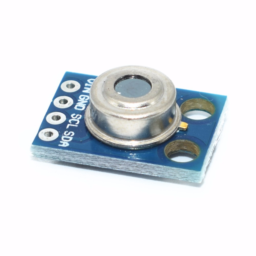 Image 2 - 10pcs/lot GY 906 MLX90614 MLX90614ESF non contact Infrared Temperature Sensor Module IIC Interface IR Sensor GY906-in Integrated Circuits from Electronic Components & Supplies