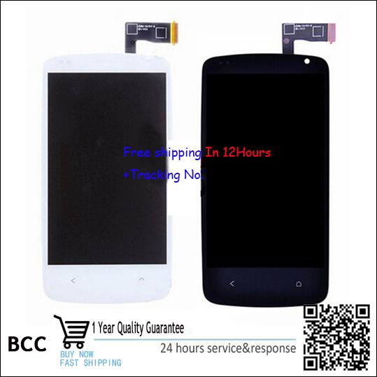 Preto original display lcd & touch screen assembléia completo para htc desire 500 dual sim frete grátis