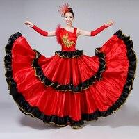 Spanish Bullfight Dress Flamenco Performance Costume New Opening Dance Full skirt Adult Female Sequin Large Swing Dress H562