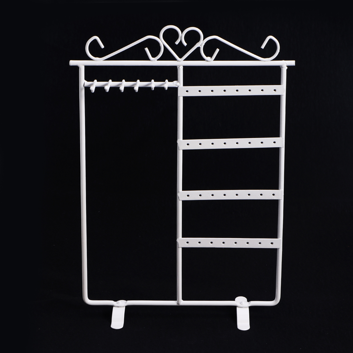 PIXNOR Necklace Ring Earring Display Stand Rack Shelf Metal Jewelry