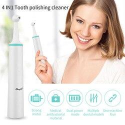 4 w 1 zestaw narzędzi do usuwania płytki nazębnej USB wybielanie zębów skrobak do zębów usuwanie kamienia nazębnego gumka polerka Cleaner 38