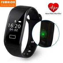 Оригинальный fumalon K18S умный браслет с крови O2 браслет Heart Rate Фитнес трекер Мониторы Bluetooth часы