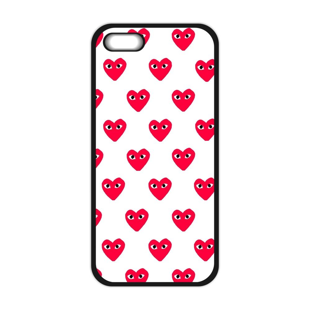 Comme Des Garcons Heart Cute Cover Case for iPhone 4 4S 5 5C 5S SE 6 6S Plus Samsung Galaxy S3 S4 S5 Mini S6 S7 Edge