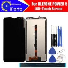 6.0 بوصة Ulefone الطاقة 5 شاشة الكريستال السائل + مجموعة المحولات الرقمية لشاشة تعمل بلمس 100% الأصلي جديد LCD + اللمس محول الأرقام ل قوة 5 + أدوات