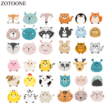 ZOTOONE Animal Patches Set For Kids Clothes Iron-on Transfer Washable Lovely Stickers Household DIY Accessory Appliques E