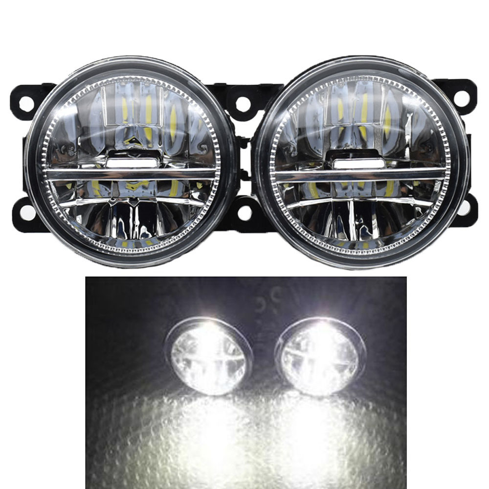 цена на 2PCS LED Front Fog Lights For Mitsubishi Colt CZC Convertible (RG) 06-09 H11 Car Styling Round Bumper Halogen fog lamps 12V