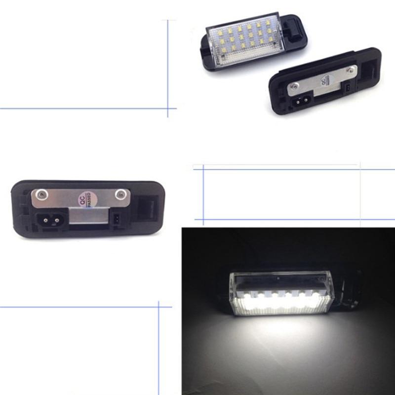 For BMW E36 3 Series 1992-1998 For 318i/320i/M3 2Pcs White Error Free Auto License Plate Light 18 LED 3528SMD Lamps