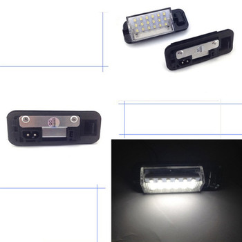 For BMW E36 3 Series 1992-1998 For 318i/320i/M3 2Pcs White Error Free Auto License Plate Light 18 LED 3528SMD Lamps image