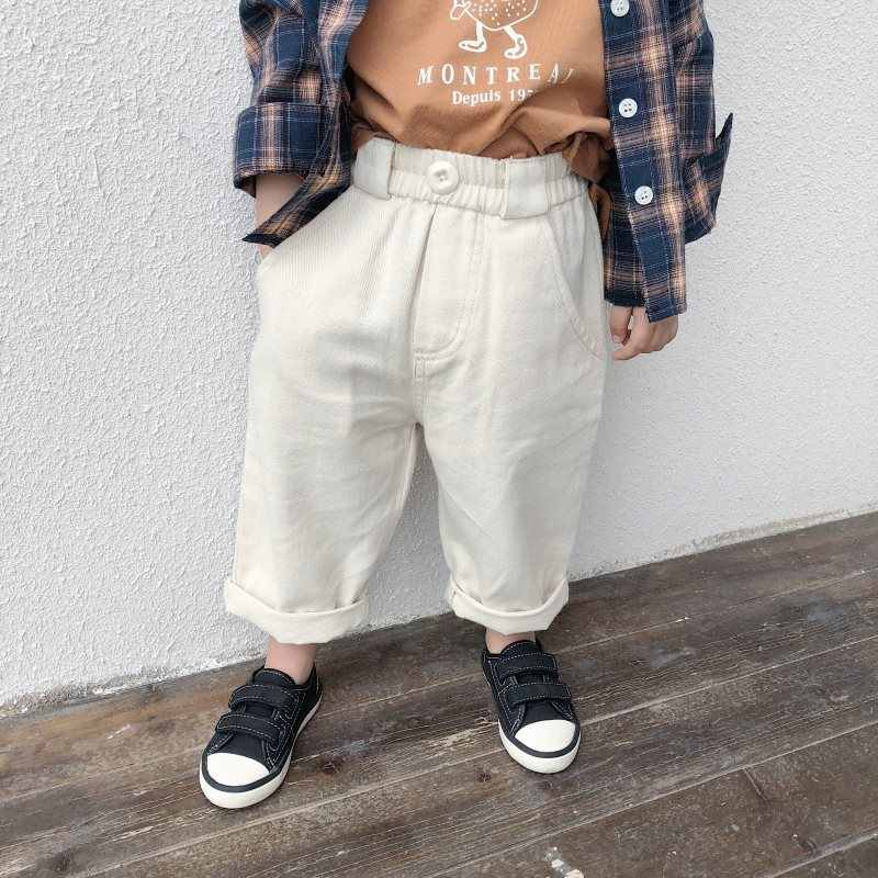 211c0c7c5 Baby Boys Cotton Pants 2019 Kids Spring Clothing Korean Style Solid Color  Toddlers Children Casual Loose