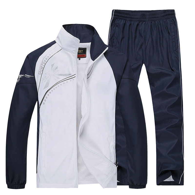 Sport Suit Men Quick Dry Sports Suits Loose Tracksuits Mens Spring Autumn Fitness Running suits Set Warm Jogging Tracksuit 6855 in Men 39 s Sets from Men 39 s Clothing