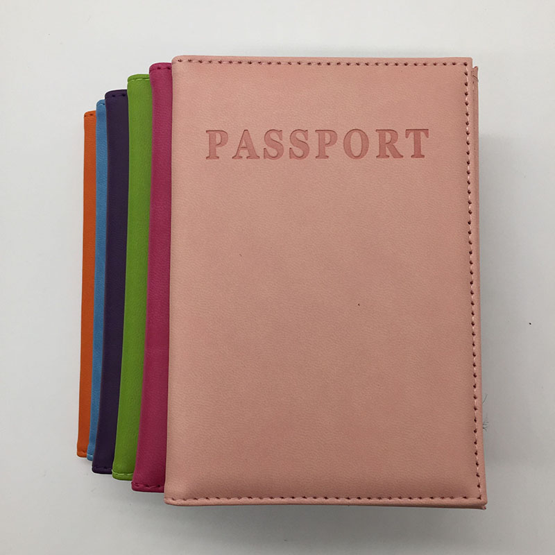 2016 NEW Fashion Leather Passport Cover Women Travel <font><b>Tickets</b></font> Passport Case High Quality Passport Holder 6 Colours for Choosing