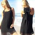 9 cores sem mangas maternidade vestidos roupas para grávidas gravidez casual one piece-vest/tanque bow evening dress/saia