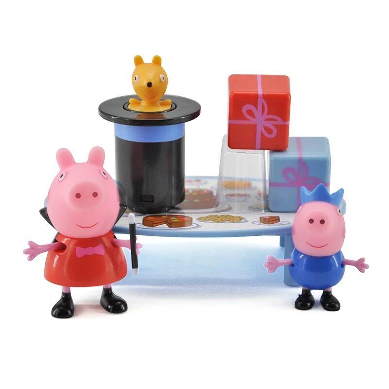 Genuine PEPPA PIG / Peppa Pig Peppa Pig's Magic Party Playset inc Peppa & George Figures play set NEW