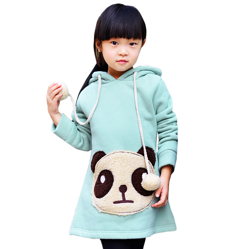 New Winter Girls Hoodies Brand Children's Clothing Children Hoodies Thick Cotton 3D Cartoon Panda Kids Warm Long Sweatshirts remax t11c bluetooth earphones 2in1 mini earbuds with dual usb car charger wireless car headset cvc noise cancelling for phone