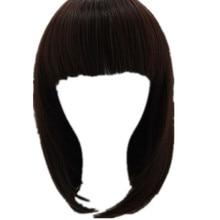 Коричневый парик Fei-Show синтетические термостойкие женские волосы костюм Cos-play карнавальный салон вечерние короткие волнистые студенческие Боб-парик